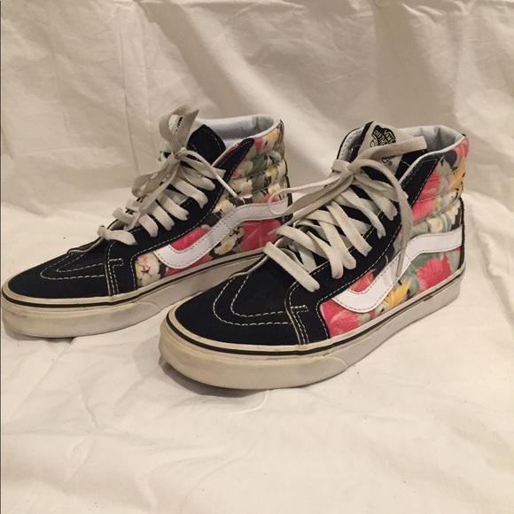 Vans Shoes | Womens High Top Floral